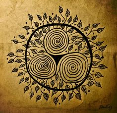 Triple Spiral (Celtic Triskele/Triskelion) The Celtic symbol of three conjoined spirals may have had triple significance. The triple spiral motif is a Neolithic symbol in Western Europe. It is considered a Celtic symbol but is in fact a pre-Celtic symbol. Main meanings: -Spirit, Mind, Body -Mother, Father, Child -Past, Present, Future -Power, Intellect, Love -Creator, Destroyer, Sustainer -Creation, Preservation, Destruction