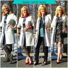 Graphic Coats Kohls Collage Graphic Coat Simply Vera. To See more outfits modeled by Women over 45 see: http://stillblondeafteralltheseyears.com/category/outfits-modeled-women-over-45/ #OutfitsModeledbyWomenover45 #fashionforWomenover45  #MC @Jamie Messick's
