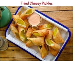 Fried Cheesy Pickles Recipe | Molly Yeh | Food Network Yummy Appetizers, Appetizers For Party, Appetizer Recipes, Snack Recipes, Cooking Recipes, Snacks, Tufo Recipes, Wonton Recipes, Cooking Bacon