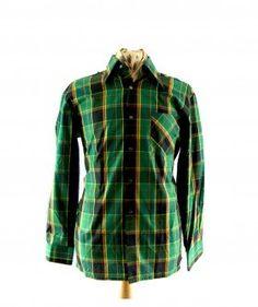 Vintage 70s shirt vintage 70s shirts pinterest 70s shirts multicolour check 70s shirt sciox Image collections