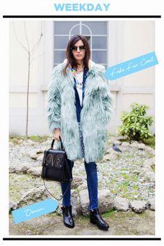 WEEKDAY STYLE : パステルカラーのファーコートで差をつける! | FASHION | ファッション | VOGUE GIRL