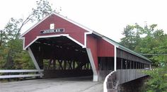 Covered bridge just before entering into Jackson, NH.