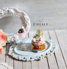 12th scale Dollhouse miniature Tea Set- Mont Blanc by CheilysMiniature on Etsy
