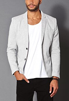 Cotton-Blend Pique Blazer | 21 MEN - 2000107705