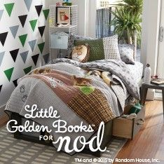 bedding sets available for a crib, kid bed or toddler bed, it even includes a quilt that tells the story of the memorable, timid kitten.