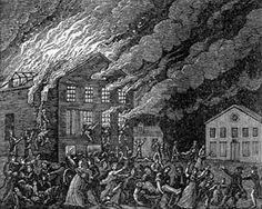 """Burning of the Richmond Theatre,"" by B.S. Turner, Philadelphia, Pennsylvania, 1812."