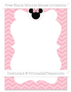 Minnie Mouse Birthday Party Invitation Template Free Free - Minnie mouse 1st birthday invitations free templates