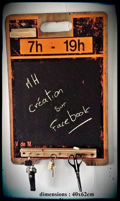 tableau à craie sur panneau de construction. 50$ #diy #palet #palette #bois #wood #woodwork #atelier #studio #Montréal #tools #outils