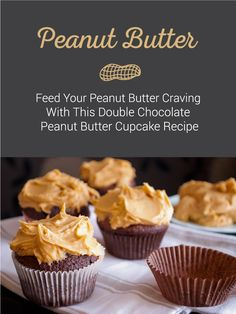 Peanut butter and chocolate in a cupcake - it doesn't get much closer to heaven. Combine chocolate and peanut butter for this mouth watering cupcake. Click the pin to find the recipe! Awesome Desserts, Fun Desserts, Delicious Desserts, Baking Hacks, Baking Recipes, Healthy Recipes, Butter Cupcake Recipe, Cupcake Recipes, Veggie Diet