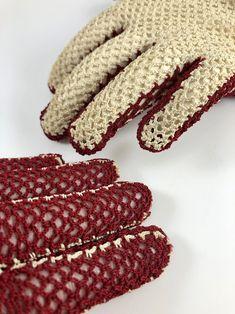 Vintage Gloves Crochet Fishnet Cream and Burgundy Crocheted   Etsy Vintage Gloves, Vintage Items, Vintage Jewelry, Crochet Gloves, Fishnet, Burgundy, Cream, Creme Caramel, Vintage Jewellery