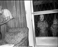 Vintage Halloween Photo. What nightmares are made of