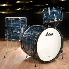 Ludwig Club Date 12/14/20 3pc Drum Kit Blue Strata from Chicago Music Exchange
