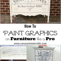 How To Paint Graphics On Furniture