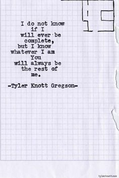 30 Love Poems By Tyler Knott Gregson Will Make You Believe In MAGIC
