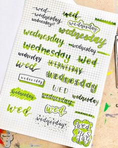 Looking for the best bullet journal fonts, headers and letterings for each day? Here are endless creative bujo ideas that you can use from Monday to Sunday! Bullet Journal School, Bullet Journal Headers, Bullet Journal Lettering Ideas, Bullet Journal Banner, Journal Fonts, Bullet Journal Notebook, Bullet Journal Ideas Pages, Bullet Journal Writing Styles, Examples Of Bullet Journals