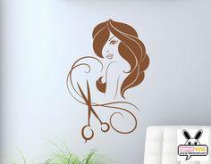 vinilos decorativo para paredes de peluquerías