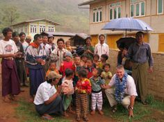 Chris Howarth (UWS Founder) with villagers in Shan State, Myanmar