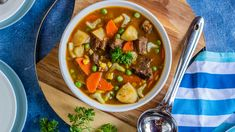 Save the recipe! Beef Soup Recipes, Fall Soup Recipes, Venison Recipes, Dinner Recipes, Beef Barley Soup, Beef Stew Meat, Gourmet Cooking, Cooking Recipes, Top Recipes