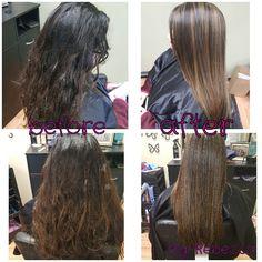 Fullhighlight & keratin treatment done by myself Rebecca Gonzalez @ Simply Chic Beauty Salon in Lowell, Mass