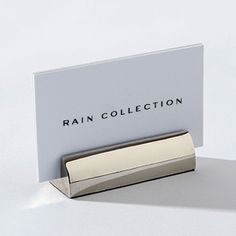 My Cards Business Card Holder - Designed by Barbara Barry. Polished nickel.
