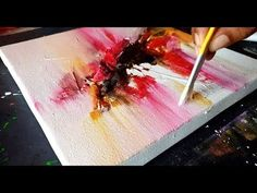 Abstract Painting in Acrylics / Textured with GESSO / Demonstration / Project 365 days / Day #021 - YouTube