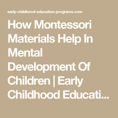 The case of brain science and guided play a developing story how montessori materials help in mental development of children early childhood education programs malvernweather Gallery