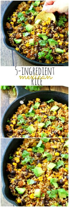 5-Ingredient Mexican Brown Rice might just be the simplest, most flavorful rice dish you'll ever cook! Comes together in one skillet and in under 15 minutes! (gluten-free, vegan)