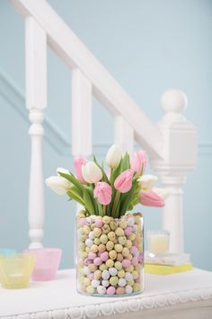 A vase full of Mini Eggs #Easter #SweetTooth