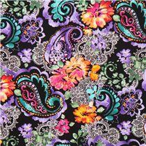 Timless Treasures - Kollektion Belize - Designer Chong-a Hwang - Blumen Paisley-Stoff