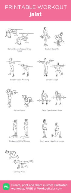 jalat: my visual workout created at WorkoutLabs.com • Click through to customize and download as a FREE PDF! #customworkout