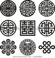 Find Korean Traditional Symbol Vector Image stock images in HD and millions of other royalty-free stock photos, illustrations and vectors in the Shutterstock collection. Chinese Culture, Chinese Art, Pattern Art, Pattern Design, 3d Templates, Motif Oriental, Korean Tattoos, Chinese Patterns, Korean Design