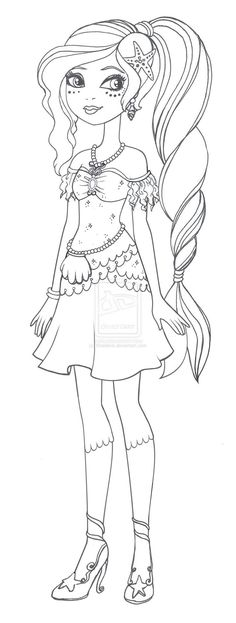 Apple White and Raven Queen Free Coloring Page | Free ...