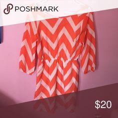 Orange summer dress Perfect for a bridal shower Charlotte Russe Dresses