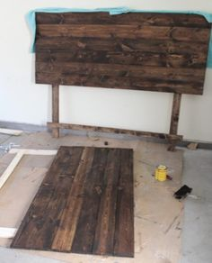 Diy Wood Slat Headboard Woodworking Diy Pinterest