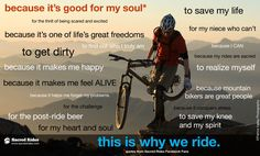 Why do you ride? Come and visit us at - #XtremeBiking http://XtremeBiking.com