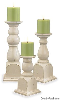 Southport Pillar Candle Holders Set