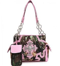 Pink Concealed Carry Rhinestone Cross Camo Purse - Handbags, Bling & More!