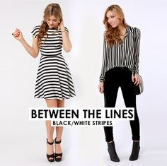 Stripes on stripes on stripes! Absolutely love the outfit on the right