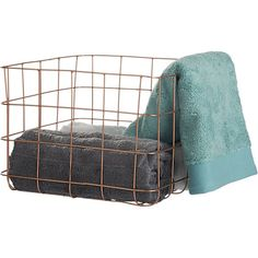 need new book storage that's toddler accessible. these on the floor? copper wire storage basket   CB2