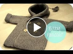 Lovely Baby Peacoat Knit Hello my friends. Today I want to share with you this video tutorial of how to crochet a lovely baby peacoat. Baby Boy Knitting, Baby Knitting Patterns, Hand Knitting, Sweater Patterns, Diy Crafts Knitting, Knitting Videos, Baby Sweaters, Handmade Baby, Crochet Baby