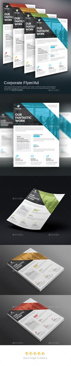 Corporate Flyer Template PSD More
