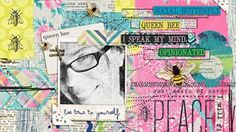 Digital Art Journaling - Using a template to create an art journal layout by @Heather Greenwood
