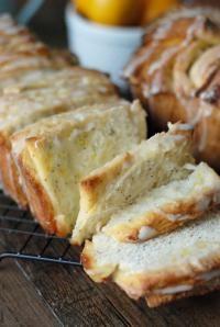 Meyer Lemon Poppy Seed Pull Apart Bread