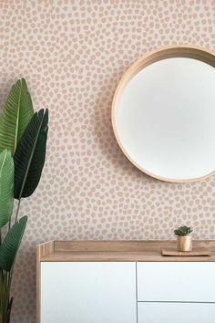 Blush Dots Hand Painted Wallpaper Abstract Wallpaper Bedroom | Etsy