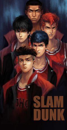 SLAM DUNK, YouQian Liu on ArtStation at https://www.artstation.com/artwork/AvkwV