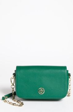 Want! Green and Gold Leather Crossbody by Tory Burch