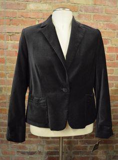 NEW Apostrophe Women s Black Velvet Versailles I Blazer Jacket Size 14 Orig $58
