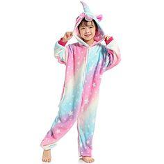 3f318dfcebcf5 Kenmont Pyjamas pour Enfants Peluche Cosplay Les grenouillères des Gamins  Animal Costume Licorne Panda Requin