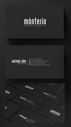 Business cards 16pt card stock down to bidness pinterest minimal black business card wajeb Images