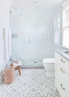 House tour modern eclectic family home in 2018 cement floor stencil pinterest bathroom - Fliesen sager ...